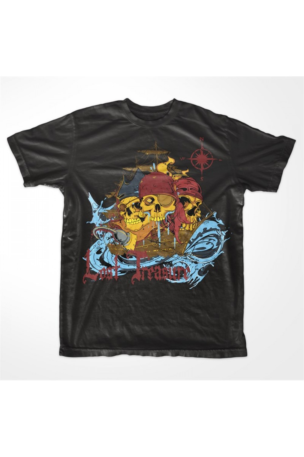"Skulls Men Printed T shirt 4015 ""Lost Treasure"""